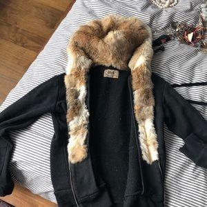 Juicy Couture Sweatshirt Real Rabbit Lining M